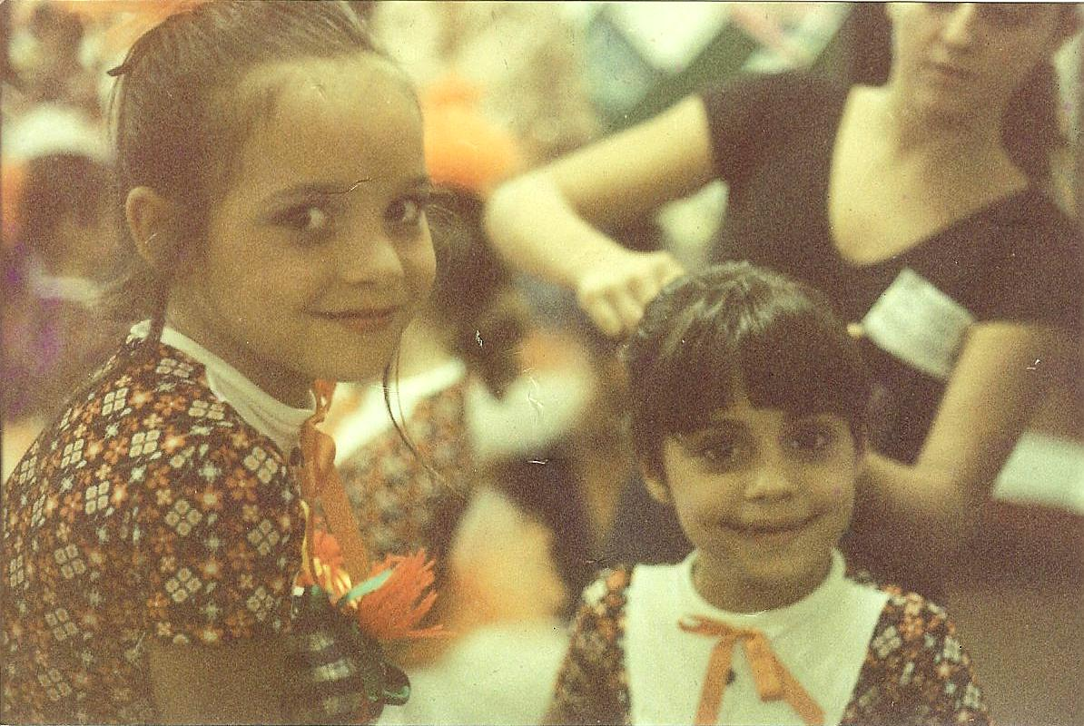 Dany e Lele, bastidores da apresentação ballet Dalal Achcar
