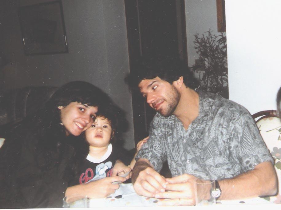 com Raul e a irmãzinha Manu